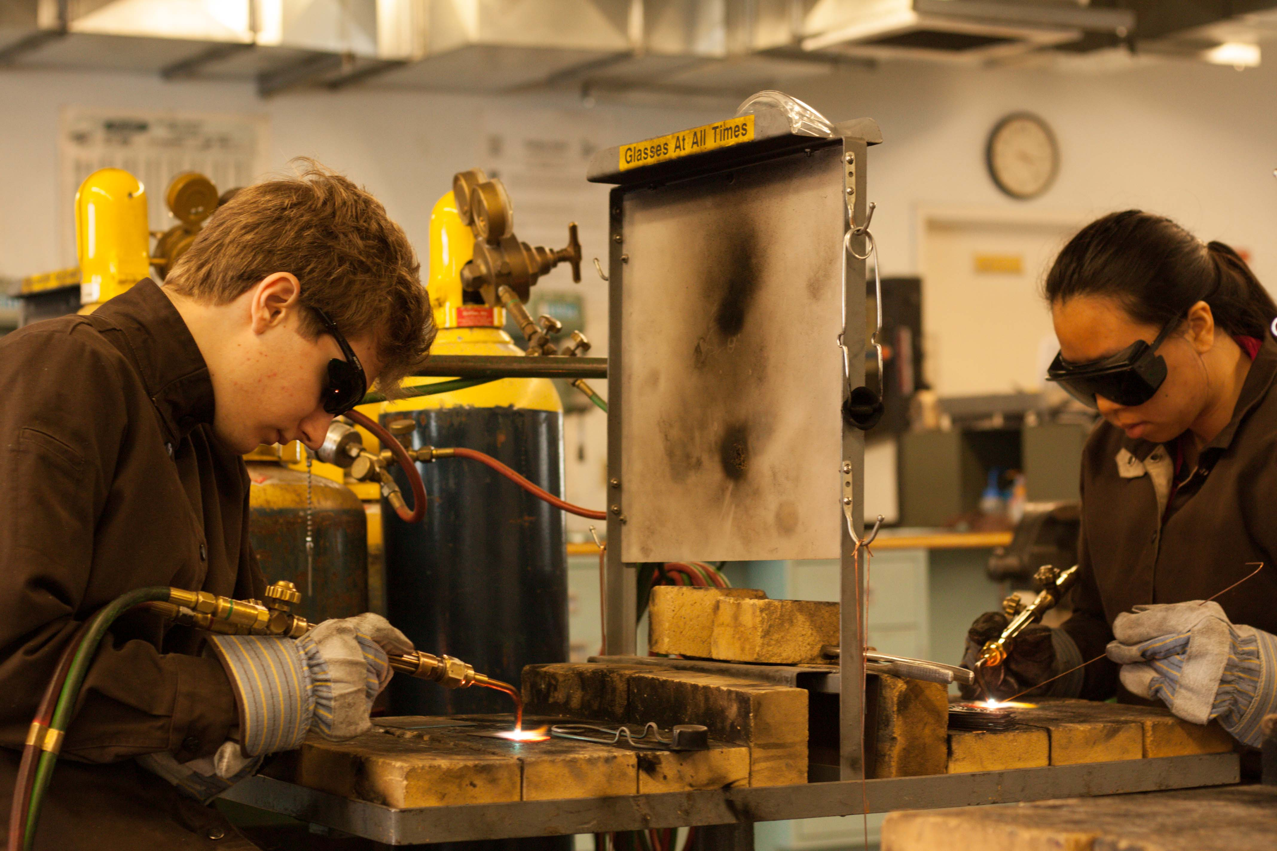 Students in an ABT Course Learn Gas Welding at the WCAE