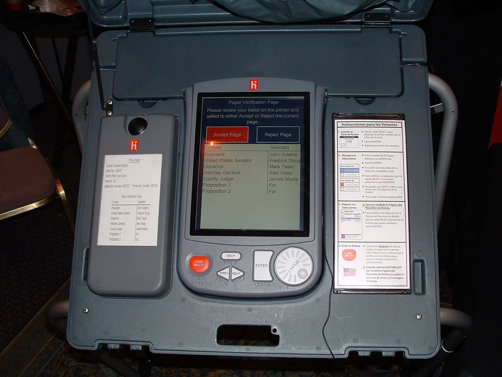 vvpat voting machine.