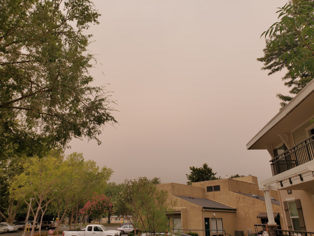 Smoke from the 2018 Camp Fire turned the sun orange and spread poor air quality across Northern California.