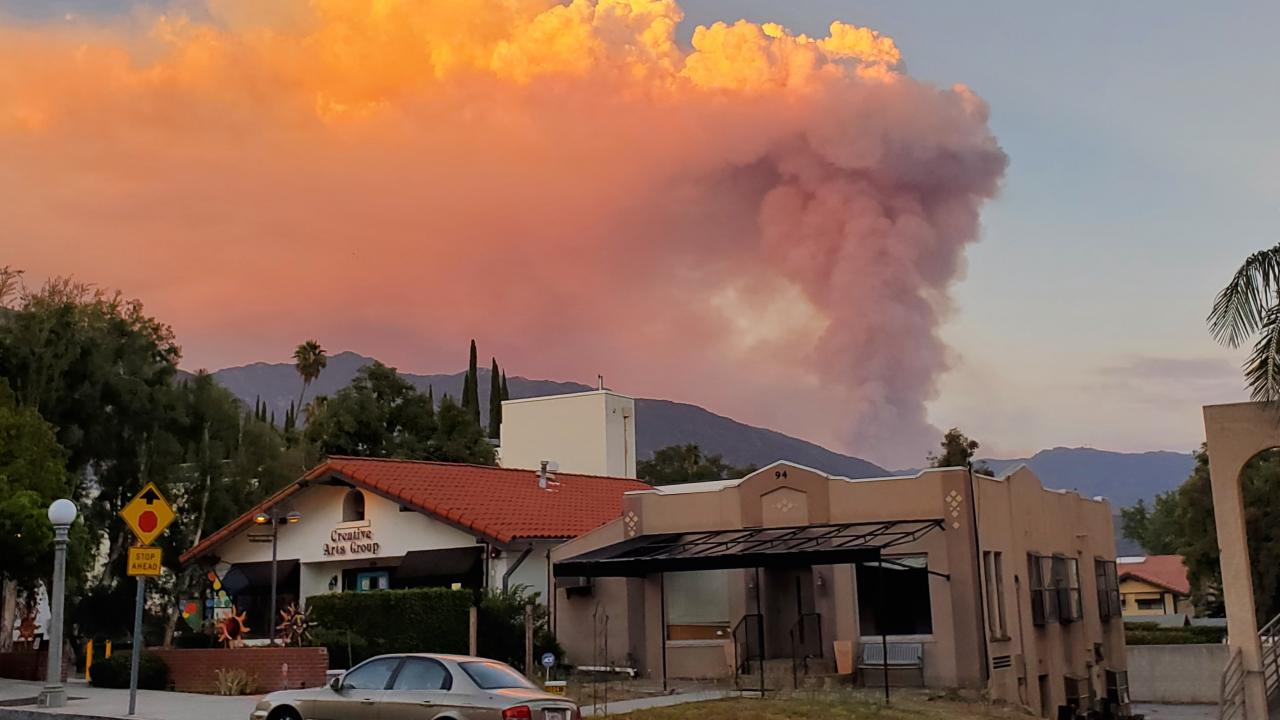 The Ranch 2 Fire burns in Southern California in August 2020