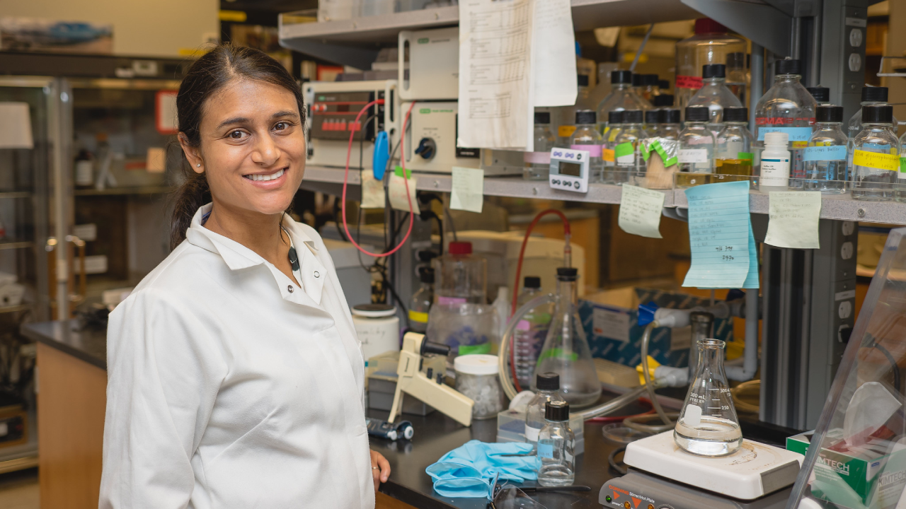 Chemical Engineering assistant professor Priya Shah
