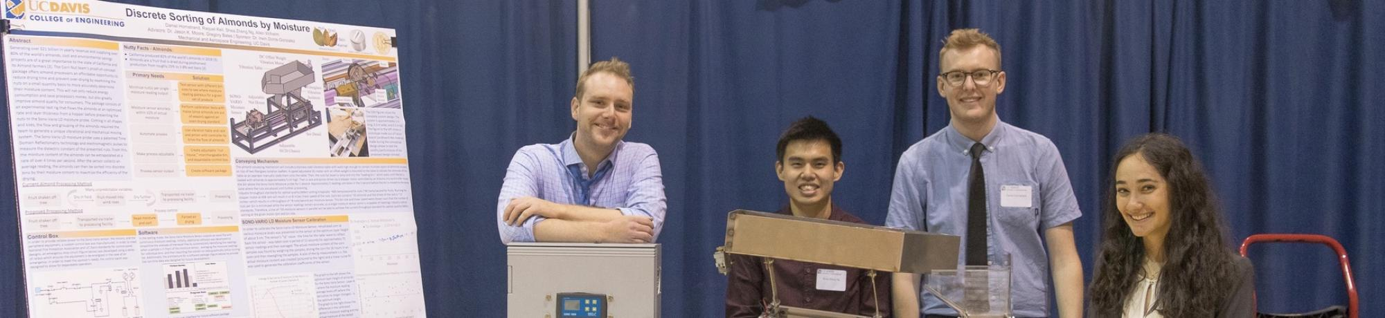 Undergraduates at the Engineering Design Showcase