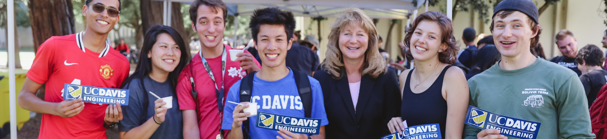 Students and Dean Curtis at Ice Cream Social 2019